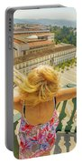 Coimbra Panorama Woman Portable Battery Charger