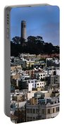 Coit Tower In San Francisco Portable Battery Charger