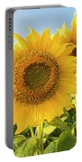 Colby Farms Sunflower Field Closeup Portable Battery Charger