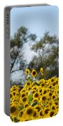 Colby Farms Sunflower Field Newbury Ma Standing Tall Portable Battery Charger