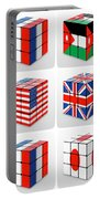 Collage Of Flags Of Different Nation  Portable Battery Charger