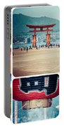 Collage Of Japan Images Portable Battery Charger