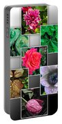 Collage Of Spring Flowers Portable Battery Charger