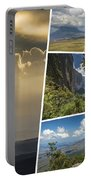 Collage Of Table Mountain Roraima  Portable Battery Charger