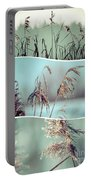 Collage Of Winter Grass Portable Battery Charger