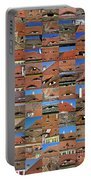 Collage Roof And Windows - The City S Eyes Portable Battery Charger