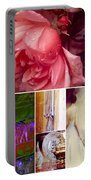 Collage So Rosey Portable Battery Charger