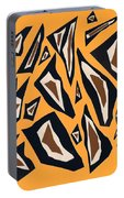 Collage Yellow Black Brown Portable Battery Charger