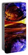 Colliding Forces Abstract Portable Battery Charger