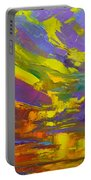 Coloful Sunset, Oil Painting, Modern Impressionist Art Portable Battery Charger by Patricia Awapara