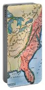 Colonial America Map Portable Battery Charger