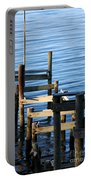 Colonial Beach Pilings Portable Battery Charger