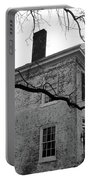 Colonial House With Flag Portable Battery Charger