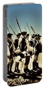 Colonial Soldiers Standing At Attention Portable Battery Charger