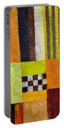 Color And Pattern Abstract Portable Battery Charger by Michelle Calkins
