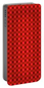Color Dots On Red Drawing Abstract #7 Portable Battery Charger