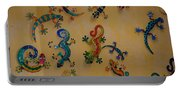 Color Lizards On The Wall Portable Battery Charger