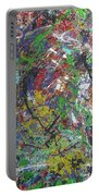 Color Map From The Sky And Ice Figure  Portable Battery Charger
