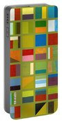 Color Study Collage 64 Portable Battery Charger by Michelle Calkins