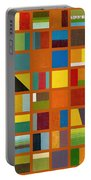 Color Study Collage 66 Portable Battery Charger by Michelle Calkins