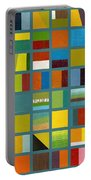 Color Study Collage 67 Portable Battery Charger by Michelle Calkins
