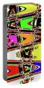 Color Wave Abstract Portable Battery Charger