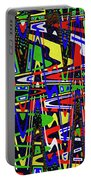 Color Works Abstract Portable Battery Charger