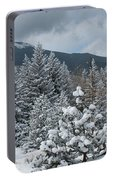 Colorado Foothills Winter Panorama Portable Battery Charger