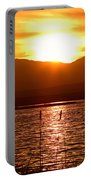 Colorado Marsh At Sunset Portable Battery Charger