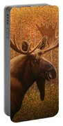 Colorado Moose Portable Battery Charger by James W Johnson