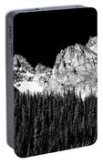 Colorado Rocky Mountains Indian Peaks Fine Art Bw Print Portable Battery Charger