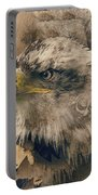 Colored Etching Of American Bald Eagle Portable Battery Charger
