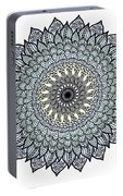 Colored Flower Zentangle Portable Battery Charger