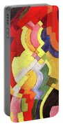 Colored Forms IIi By August Macke Portable Battery Charger
