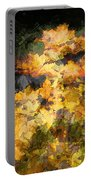 Colored Maple Leaves Portable Battery Charger