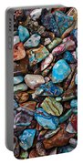 Colored Polished Stones Portable Battery Charger by Garry Gay