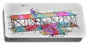 Colorful 1906 Wright Brothers Flying Machine Patent Portable Battery Charger
