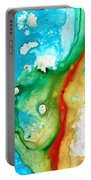 Colorful Abstract Art - Captured - By Sharon Cummings Portable Battery Charger