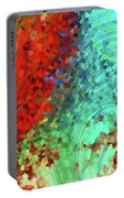 Colorful Abstract Art - Rejoice - Sharon Cummings Portable Battery Charger