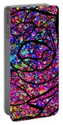 Colorful Abstract Rose  Portable Battery Charger
