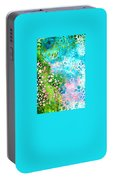 Colorful Art - Enchanting Spring - Sharon Cummings Portable Battery Charger