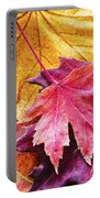 Colorful Autumn Leaves Closeup Portable Battery Charger