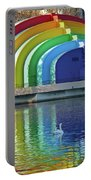 Colorful Bandshell And Swan Portable Battery Charger