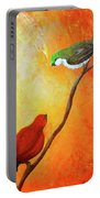 Colorful Bird Art Portable Battery Charger