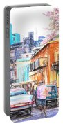 Colorful Buildings And Old Cars In Havana - V3 Portable Battery Charger