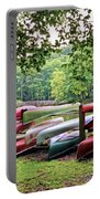 Colorful Canoes At Hungry Mother State Park Portable Battery Charger