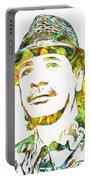 Colorful Carlos Santana Portable Battery Charger