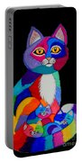 Colorful Cats And Kittens Portable Battery Charger