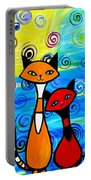 Colorful Cats Portable Battery Charger
