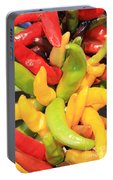 Colorful Chili Peppers  Portable Battery Charger